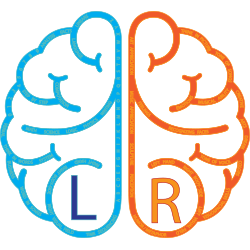 left and right brain vector image